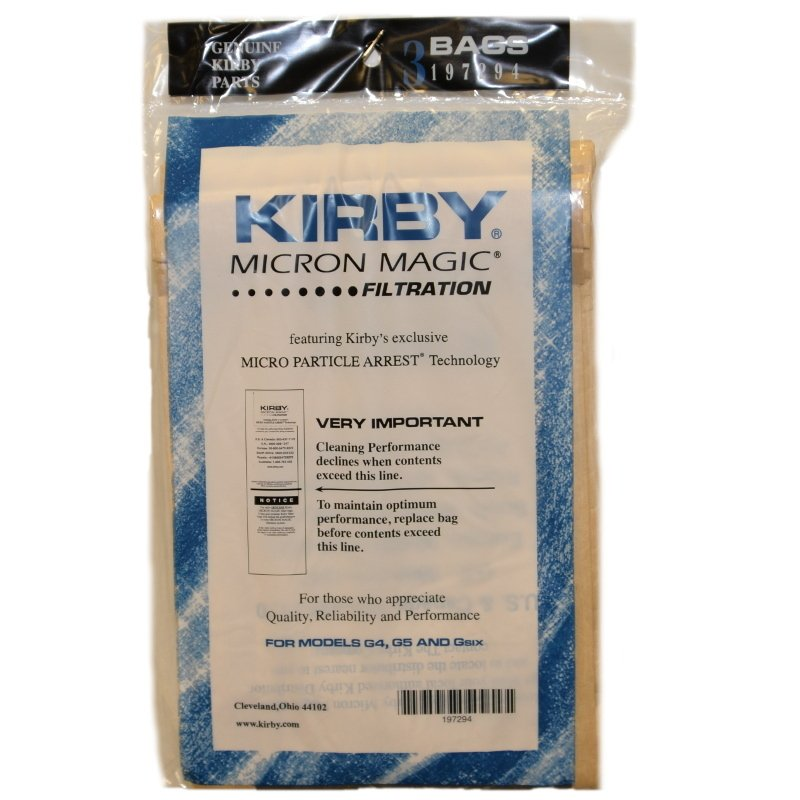 Kirby Vacuum Bag 3pk -  Fits G4 - G6 Series