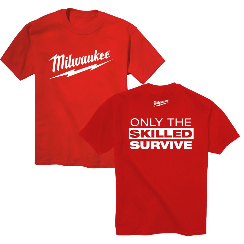Milwaukee Only the Skilled Survive T-Shirt - XXL