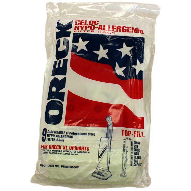 Oreck Vacuum Bags - Hypo Allergenic Filter (9-Pack)