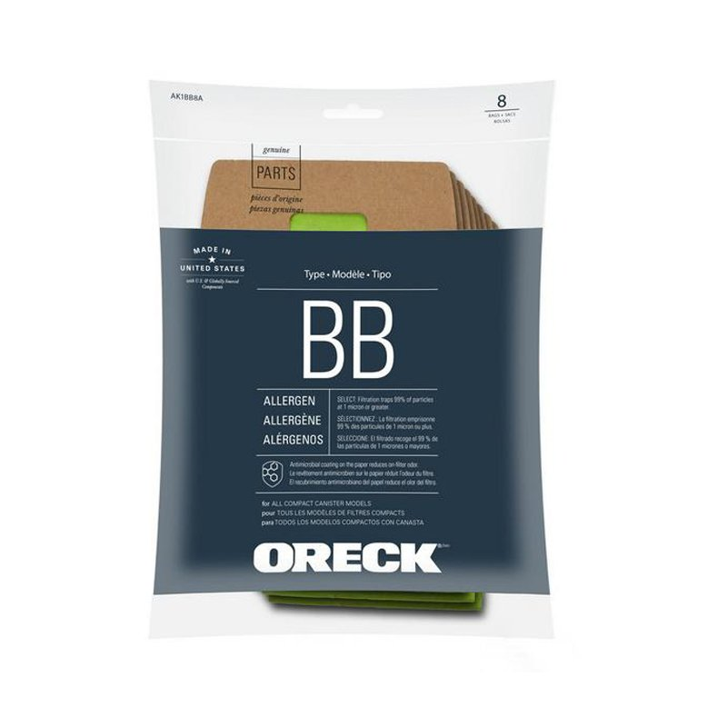 Oreck Vacuum Bags - Buster B Canister 8pk