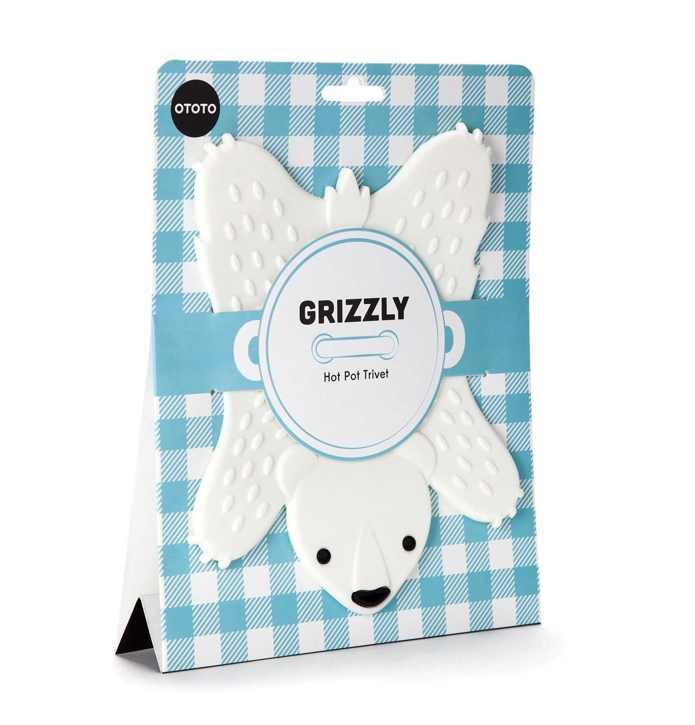 Grizzly Hot Pot Trivet - White