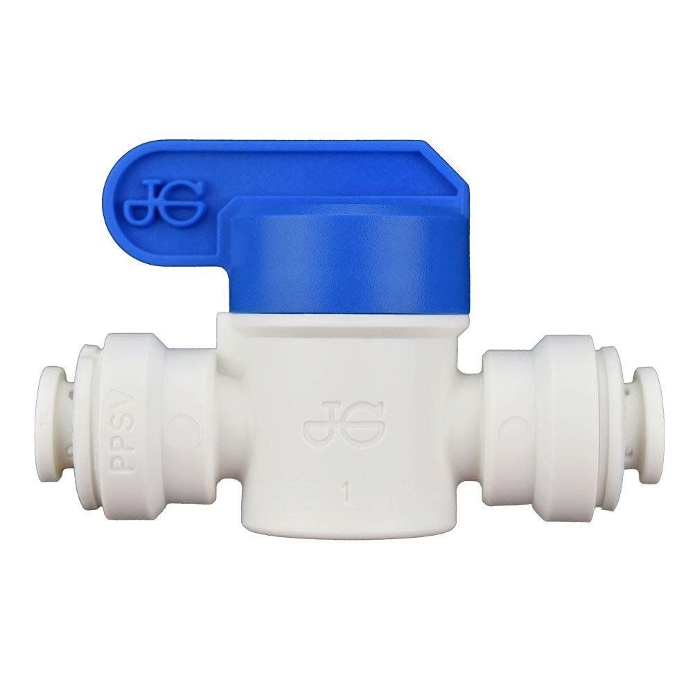 Push Fit 1/4 Shut Off Valve - PPSV040808W