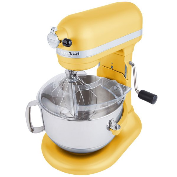 KitchenAid 6qt Stand Mixer Majestic Yellow Refurb - RKP26M1XMY
