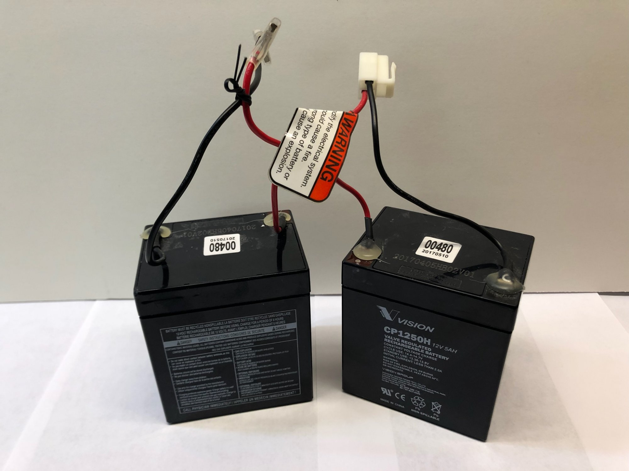 Razor Battery w/ Reset Wires 24V E100 Series