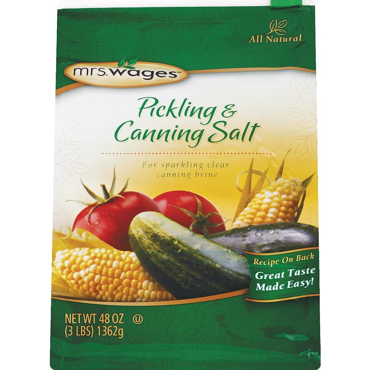 Mrs. Wages Canning & Pickling Salt - 3lbs