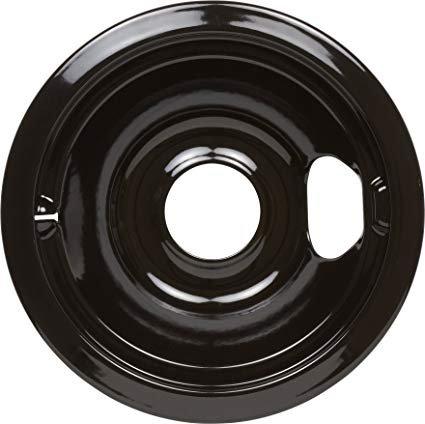 Drip Bowl 6 Ceramic Black w/ Rear & Front Bubble