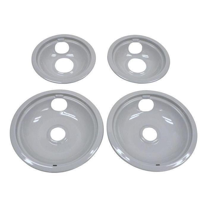 6 DRIP PAN - LIGHT GRAY PORCELAIN -W/O HOLE