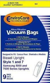 BISSELL BAGS STYLE  1-7