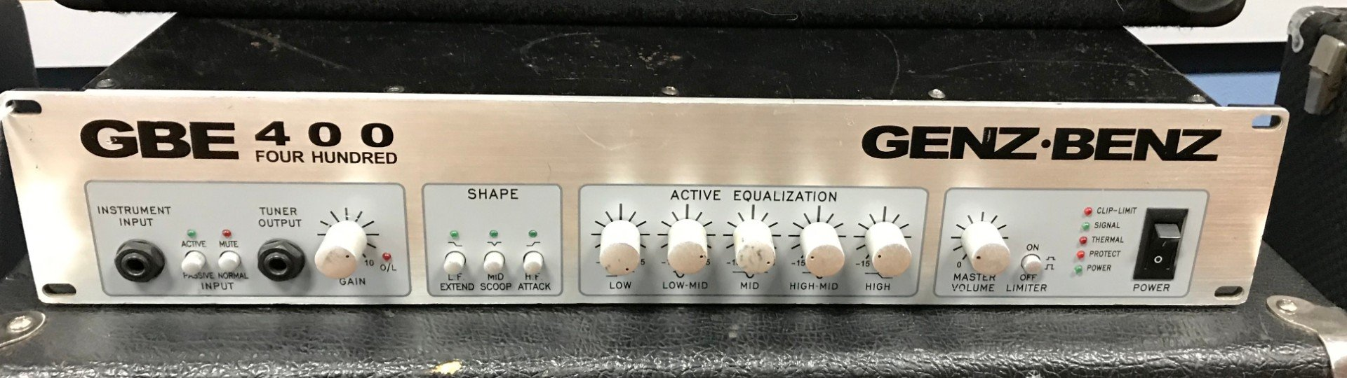 Used Genz Benz GBE 400 bass amplifier