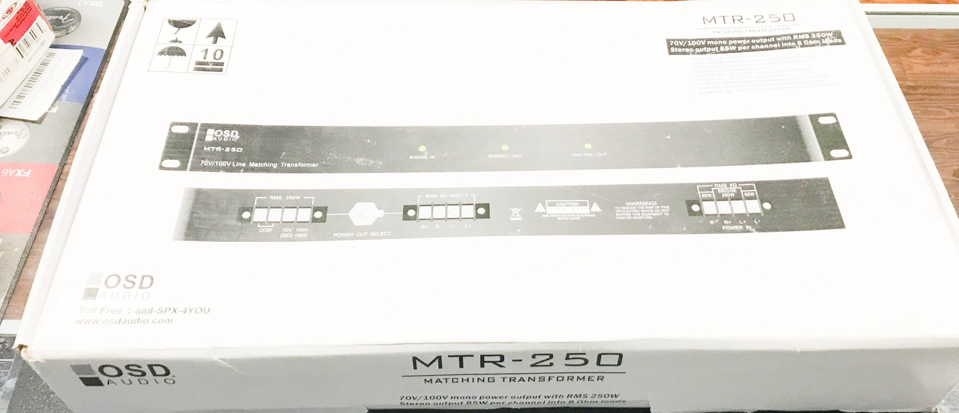 OSD Audio MTR250 power matching transformer