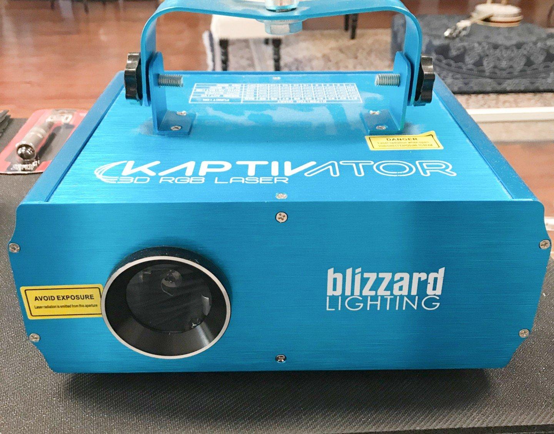 Blizzard Kaptivator 3D RGB Animation Laser w/ DMX Scan