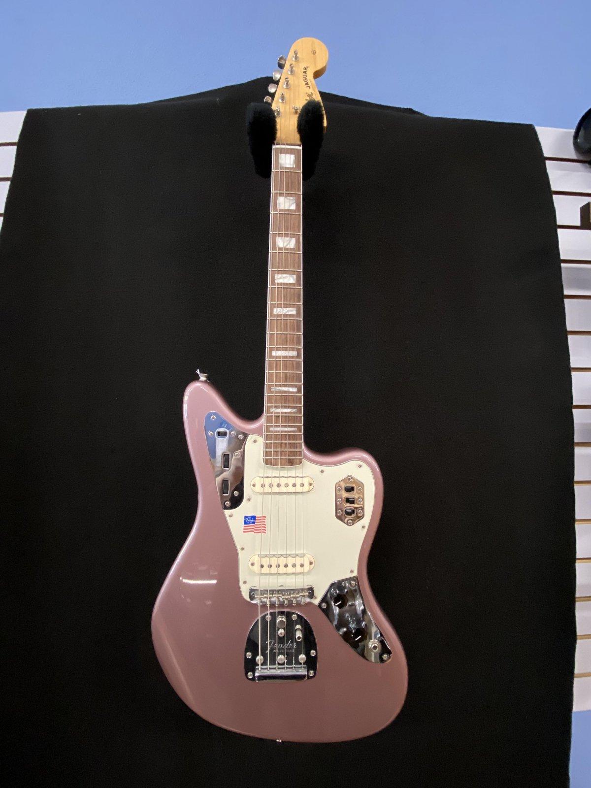 2002 50th Anniversary USA Fender Jaguar burgundy mist