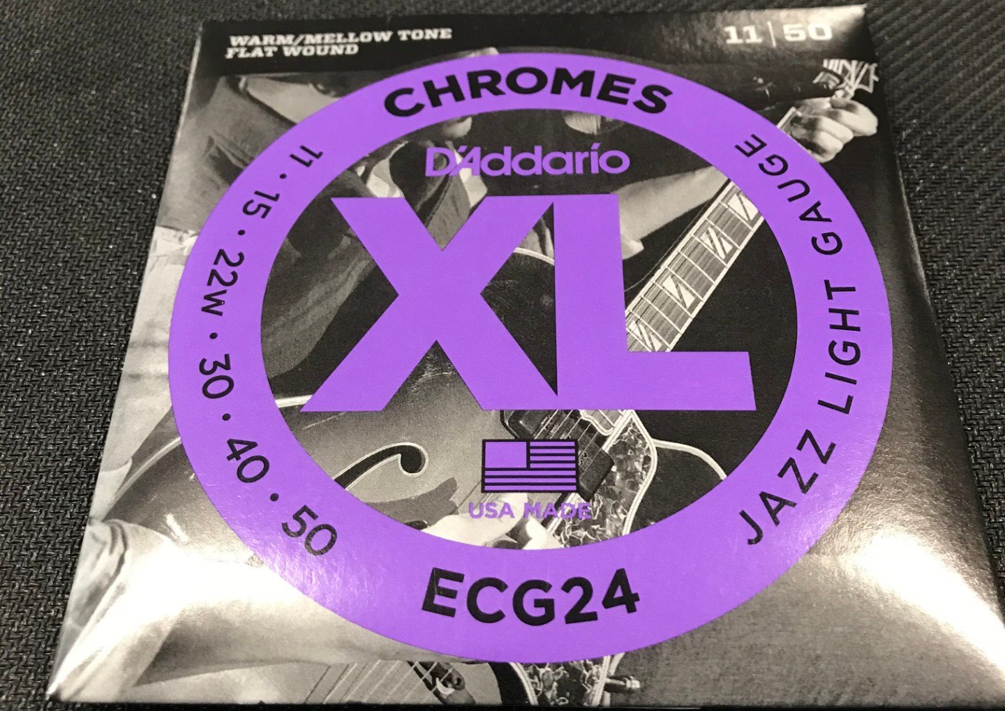 D'addario ECG24 Chrome flatwound Jazz light gauge 11-50