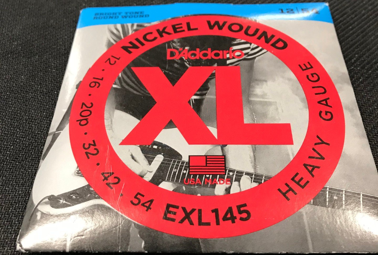 D'Addario EXL145 Nickel Wound Electric Guitar Strings, Heavy, 12-54 With Plain S...