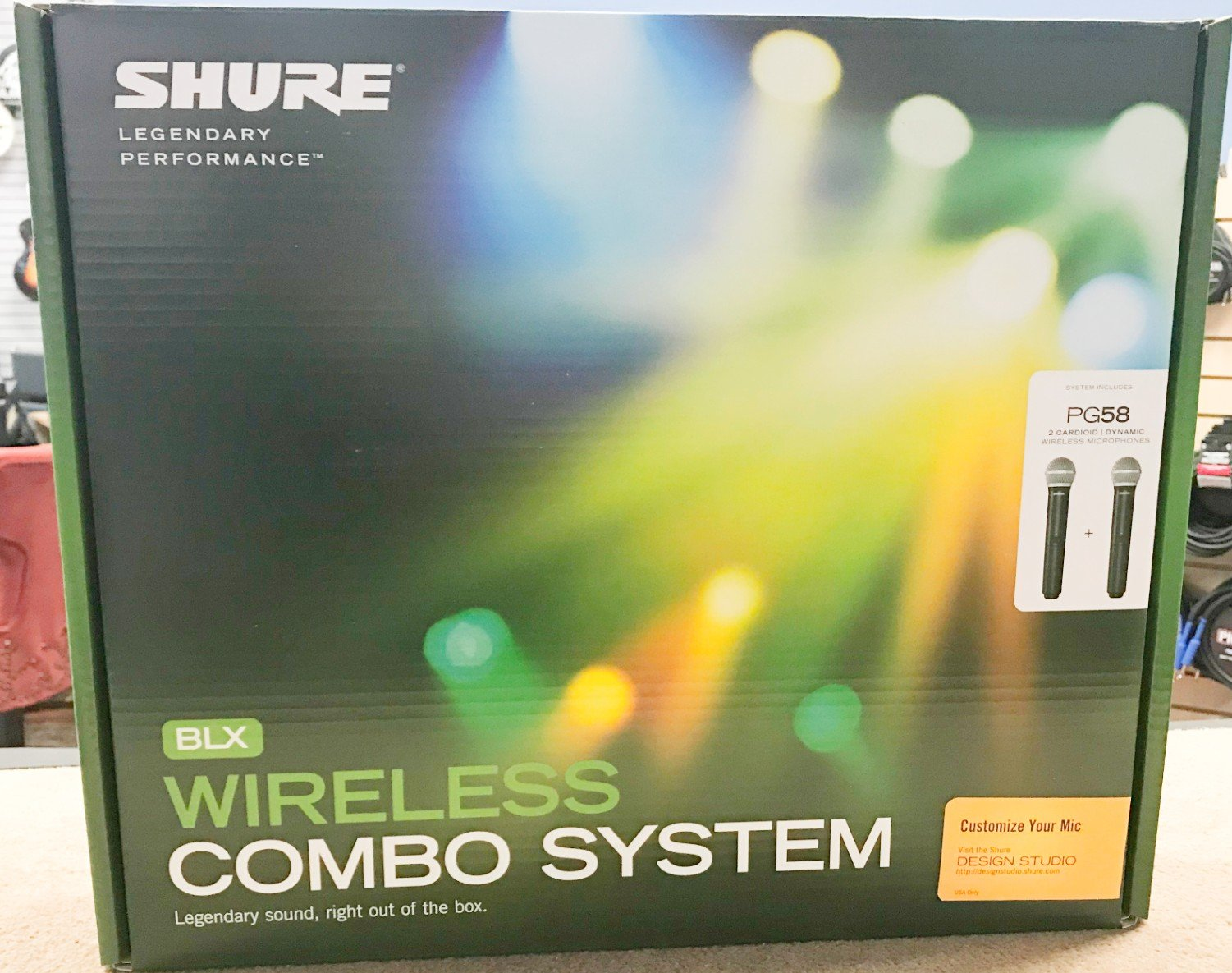 Shure BLX288/PG58 Wireless Vocal Combo with dual PG58 Handheld Microphones