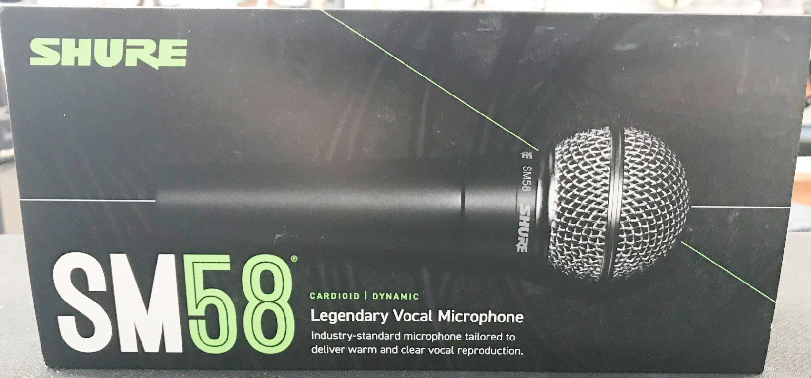 Shure SM series 58 handheld wired mic