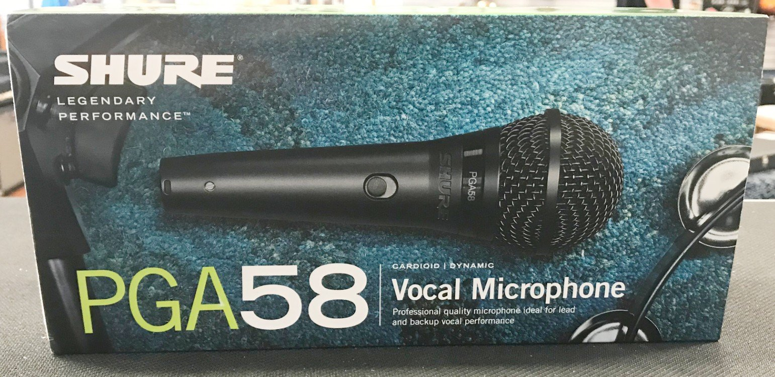 Shure Handheld PG 58 wired mic
