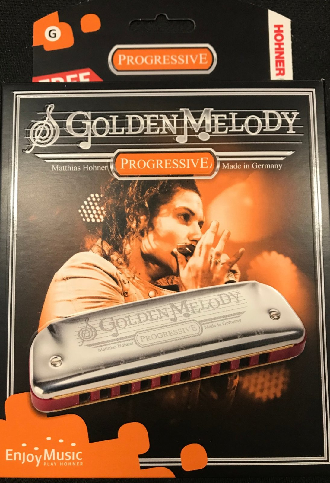 Hohner harmonica golden melody key G