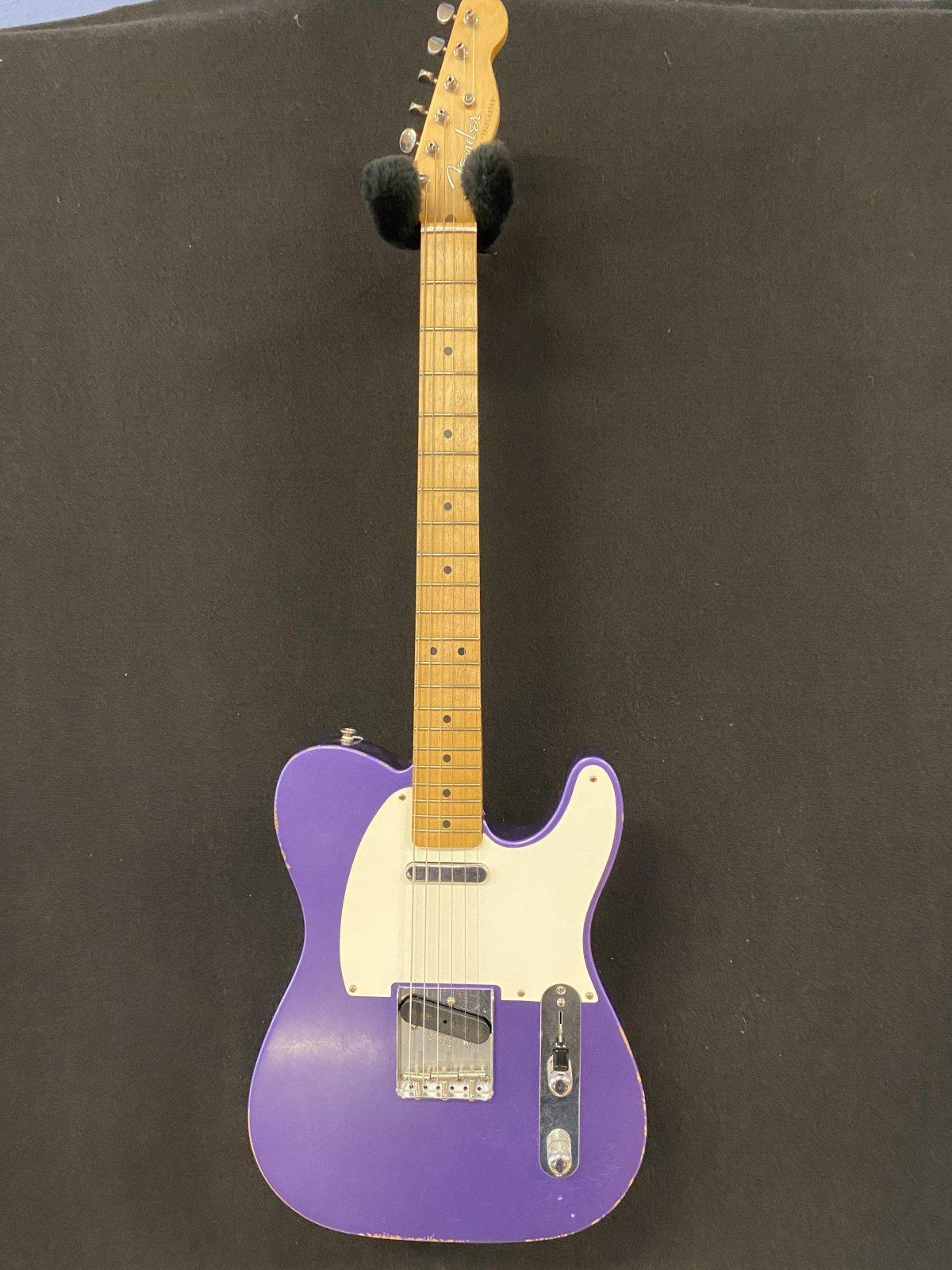 Used Fender road worn Telecaster in purple