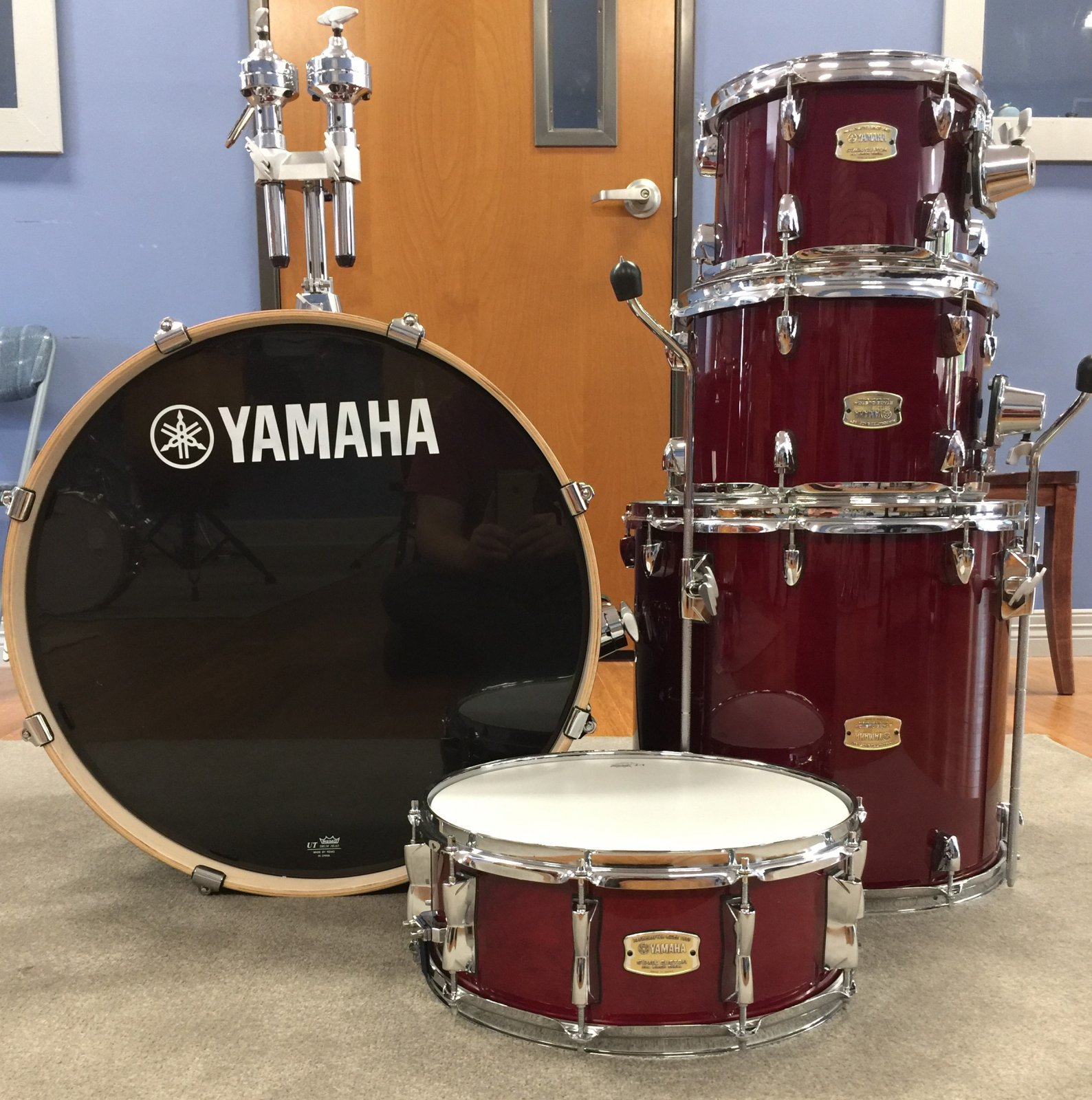 Stage Custom Kit, 5 Pc. Cranberry Red, With hardware