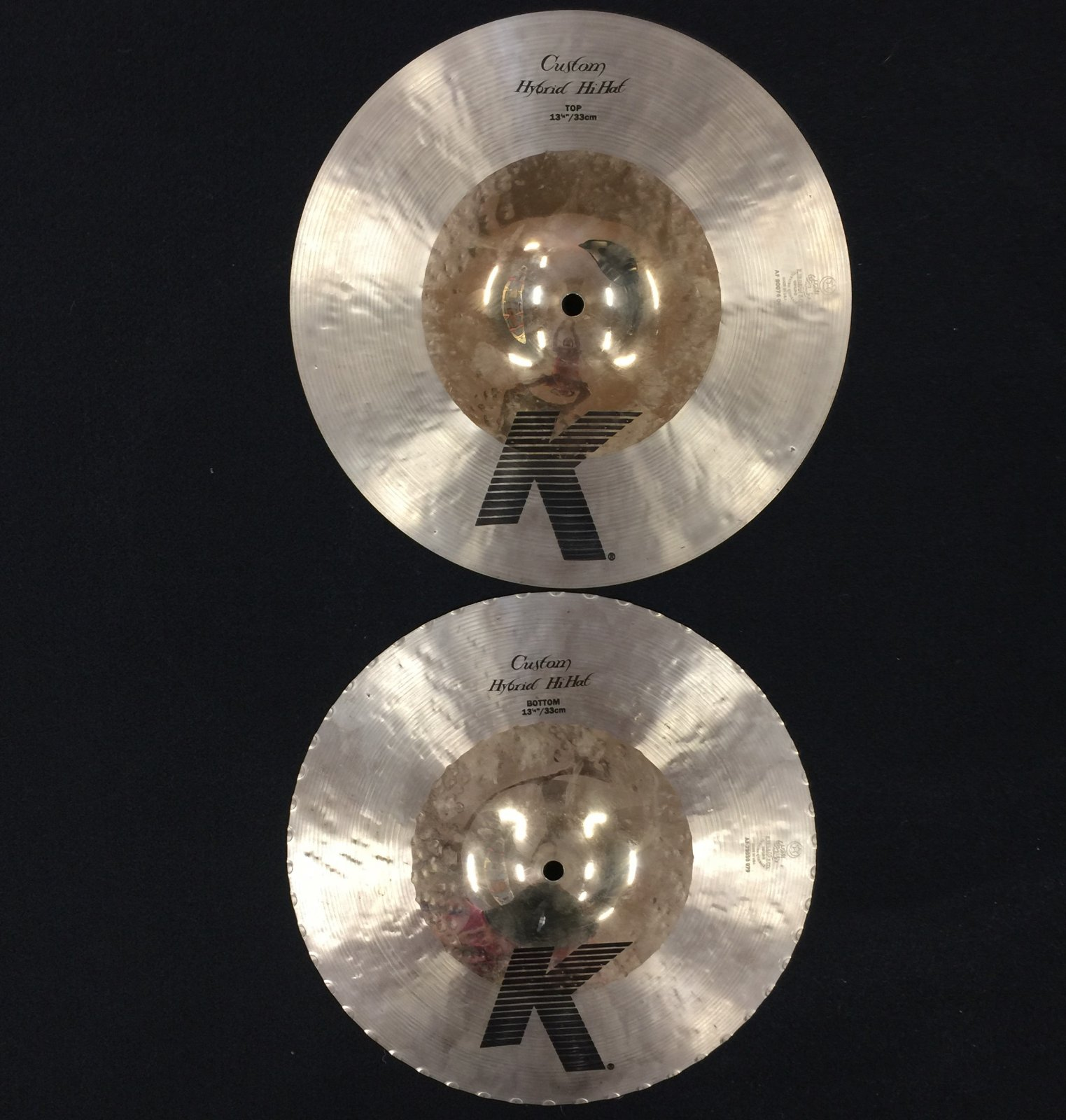 USED Zildjian 13 K Custom Hybrid Hats