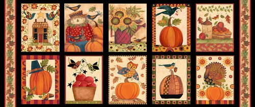 Give Thanks II panel by Blank Quilting