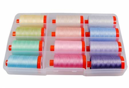 Aurifil Pastel Collection, 12 spools 50 wt