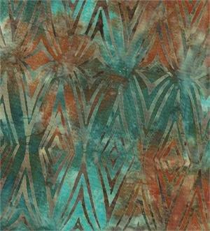 Batik Textiles 5510 Blue & Peach