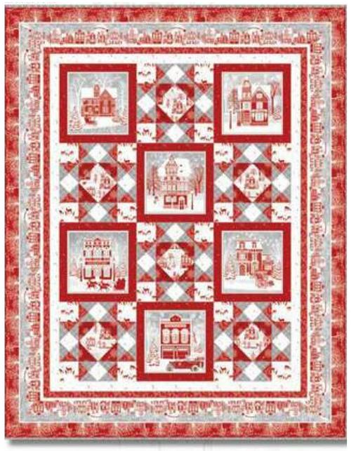 Holiday Lane Panel Quilt Kit