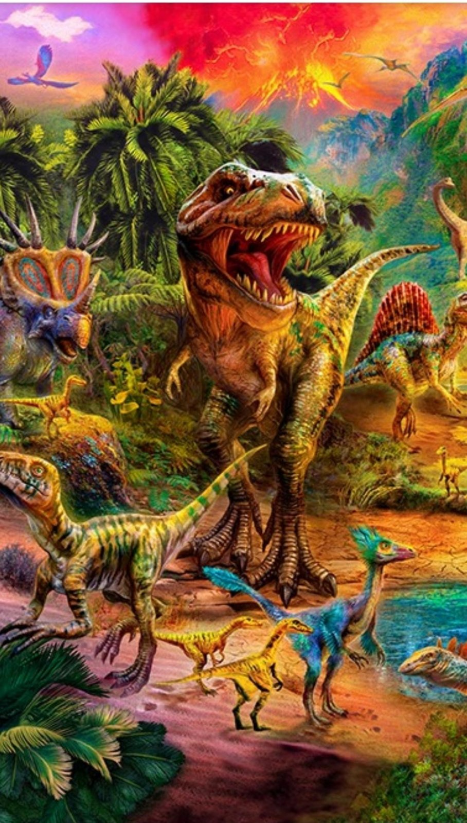 Picture This Dinosaur  108 x 108 Panel