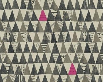 Carrie Bloomston Wonder Grey Triangles