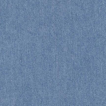 Remnant - Robert Kaufman 6.5 oz Washed Cotton Denim - Light - 3 2/3 yard
