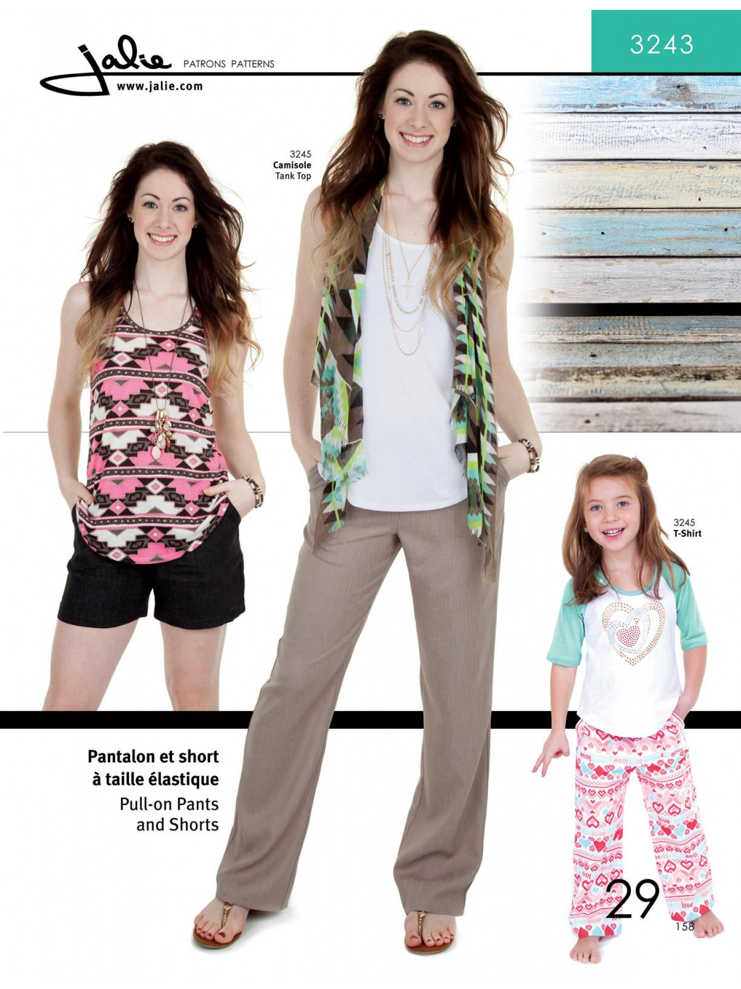 Jalie Pull-On Pants and Shorts (3243) Pattern