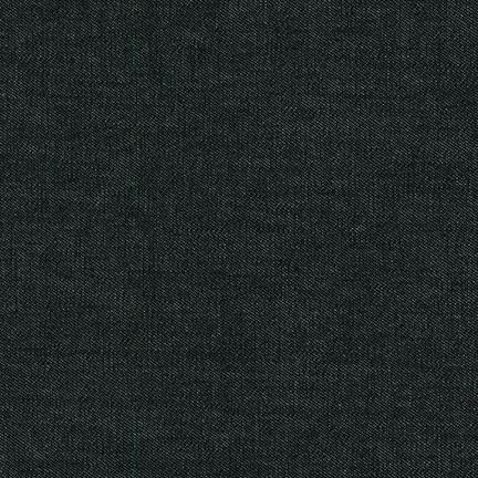 Robert Kaufman 6.5 oz Washed Cotton Denim - Black 56