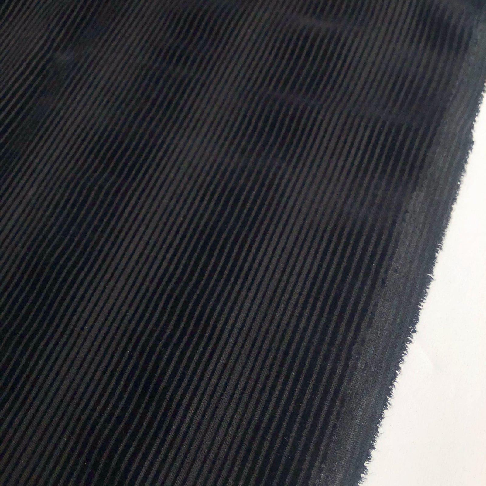 Designer Deadstock Burnout Corduroy - Black
