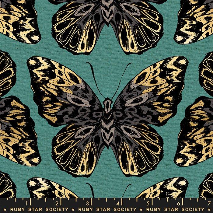Tiger Fly Canvas - Metallic Butterflies