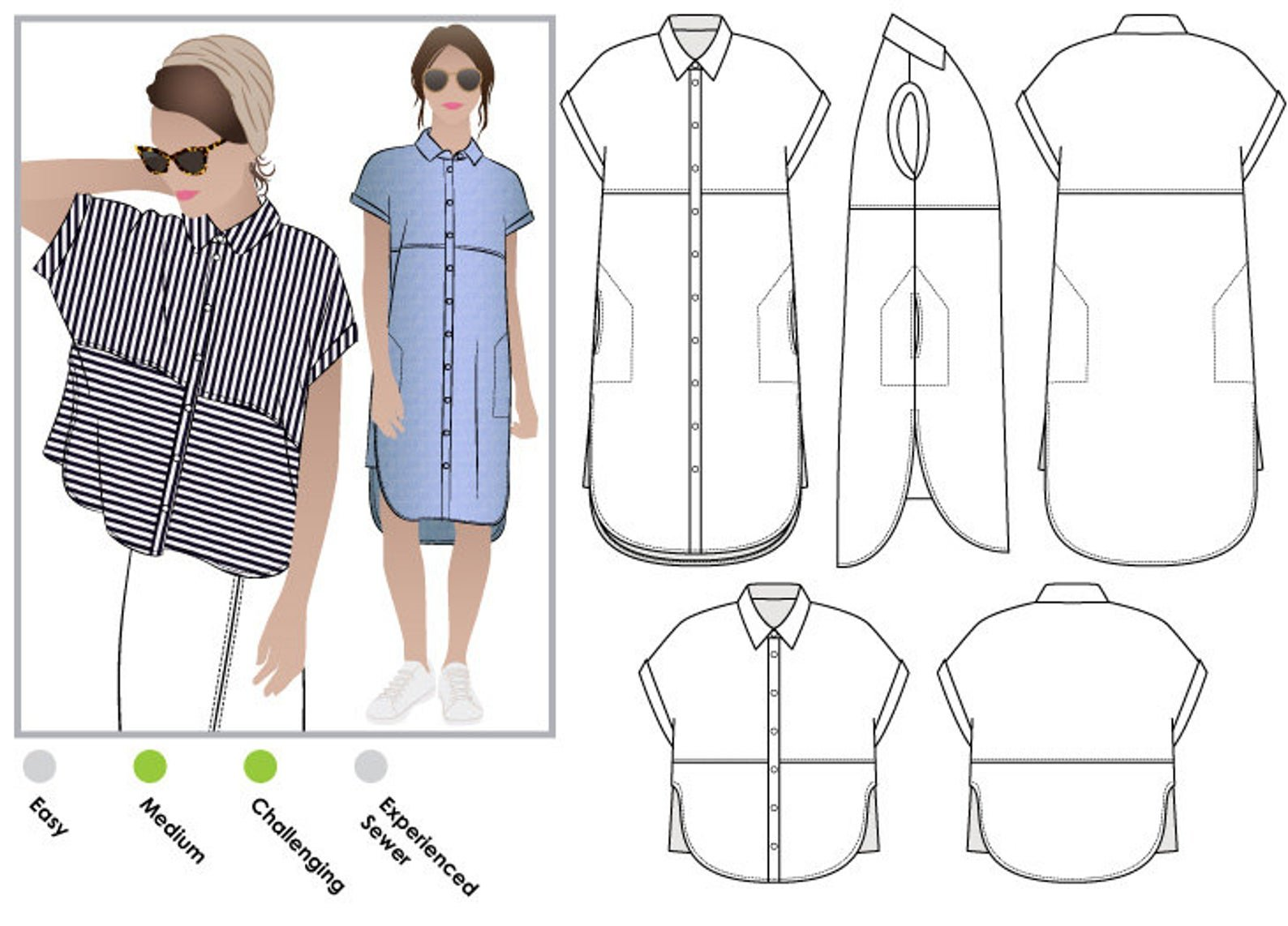 Style Arc Blaire Shirt Pattern - Sizes 4-16 or 18-30