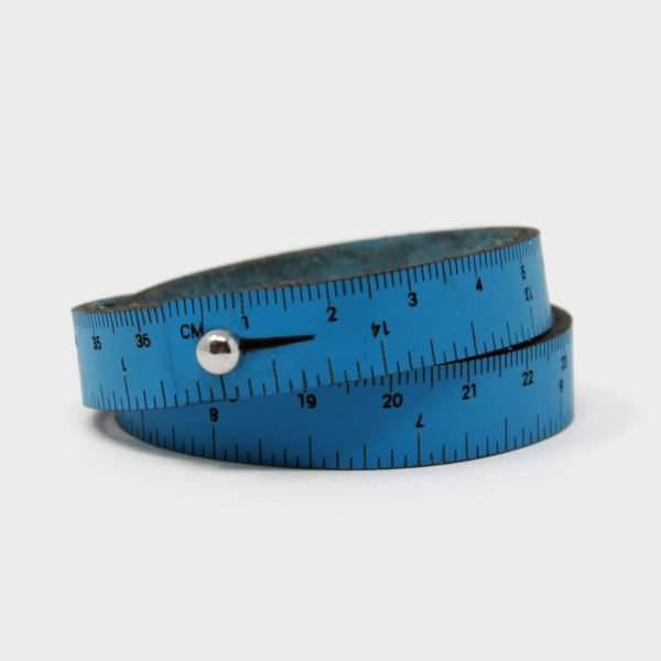 Crossover Industries Leather Wrist Ruler - Blue