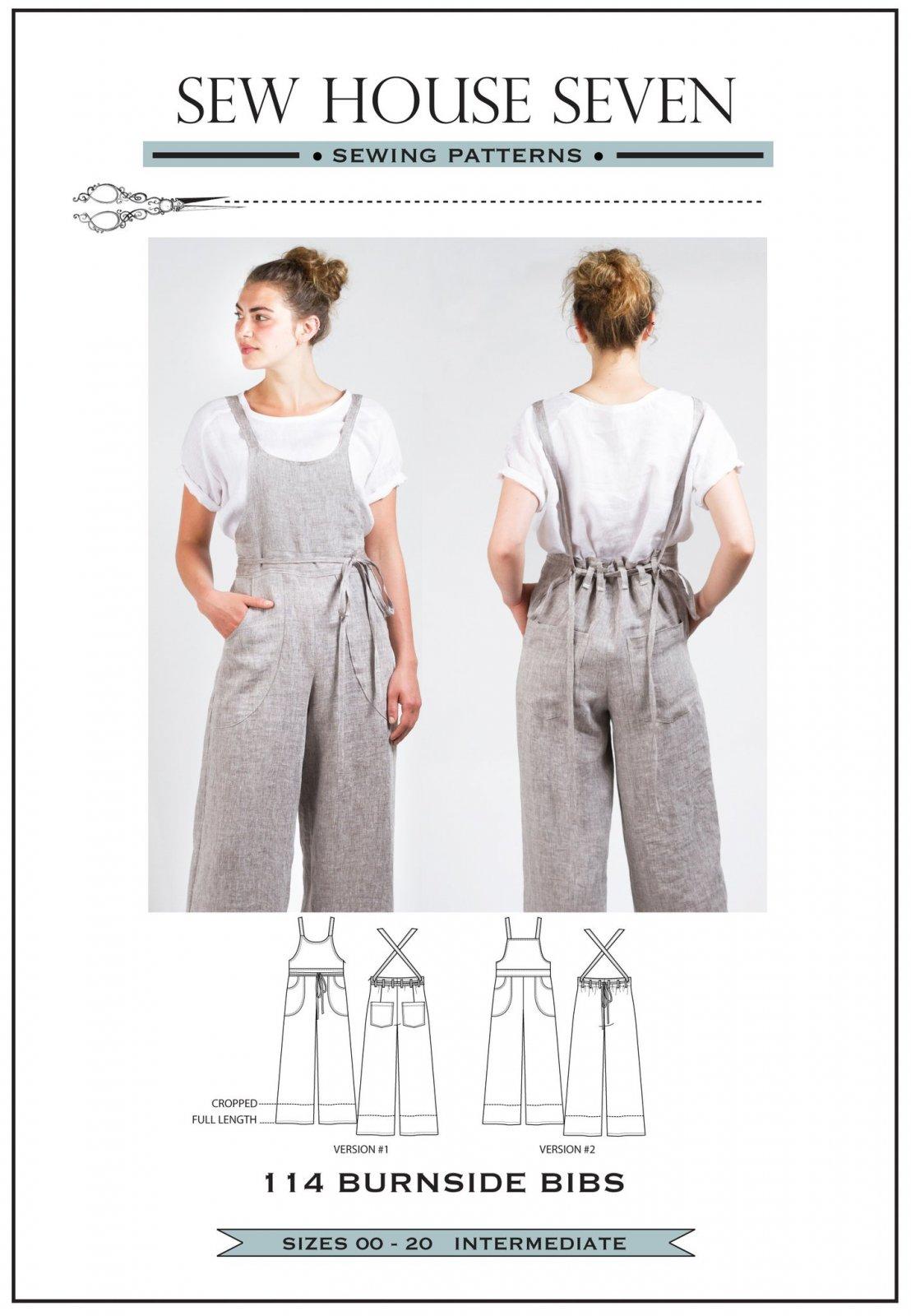 Sew House Seven Burnside Bibs Sewing Pattern