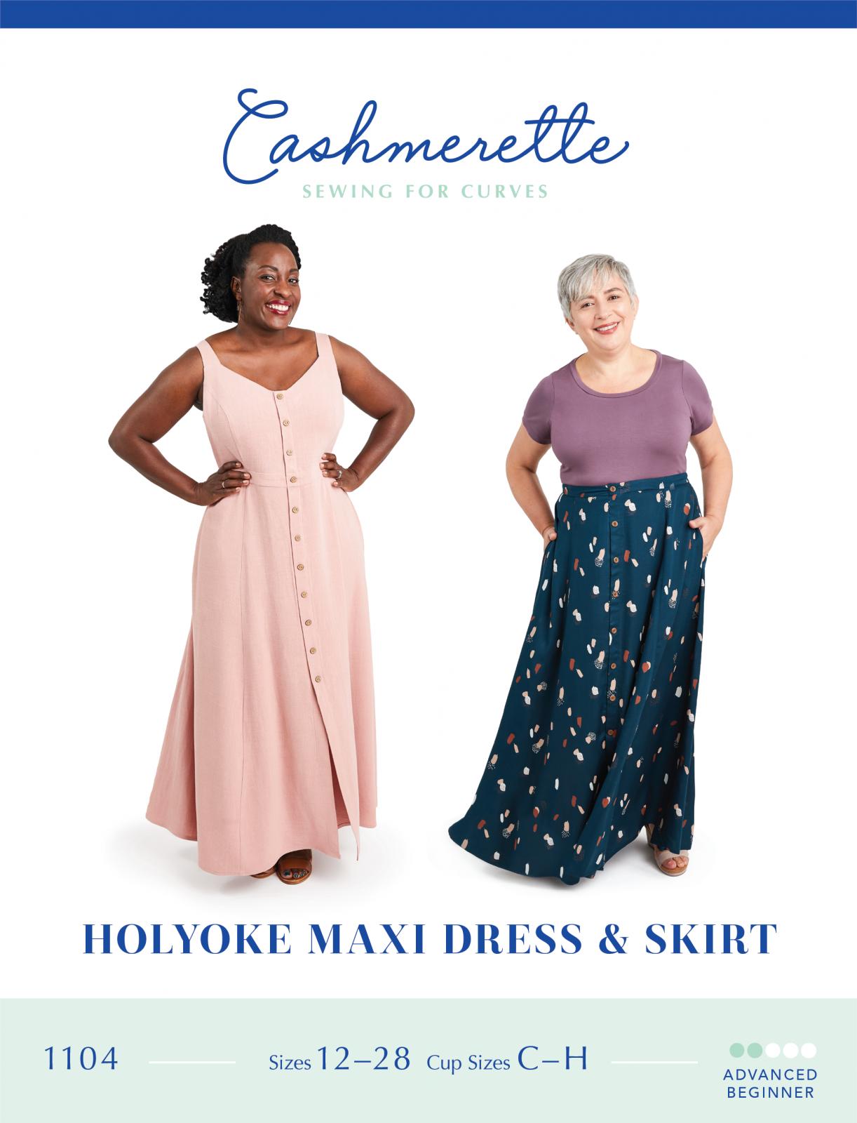 Cashmerette Holyoke Maxi Dress & Skirt Pattern