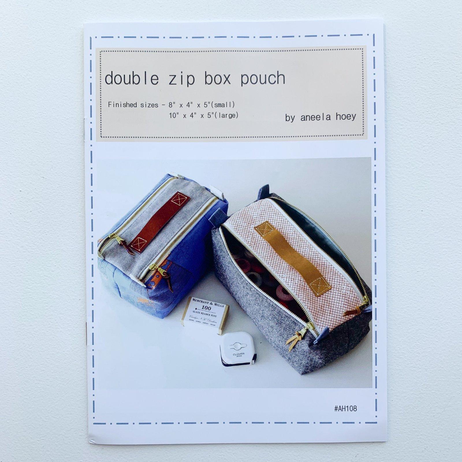 Aneela Hoey Double Zip Box Pouch Pattern
