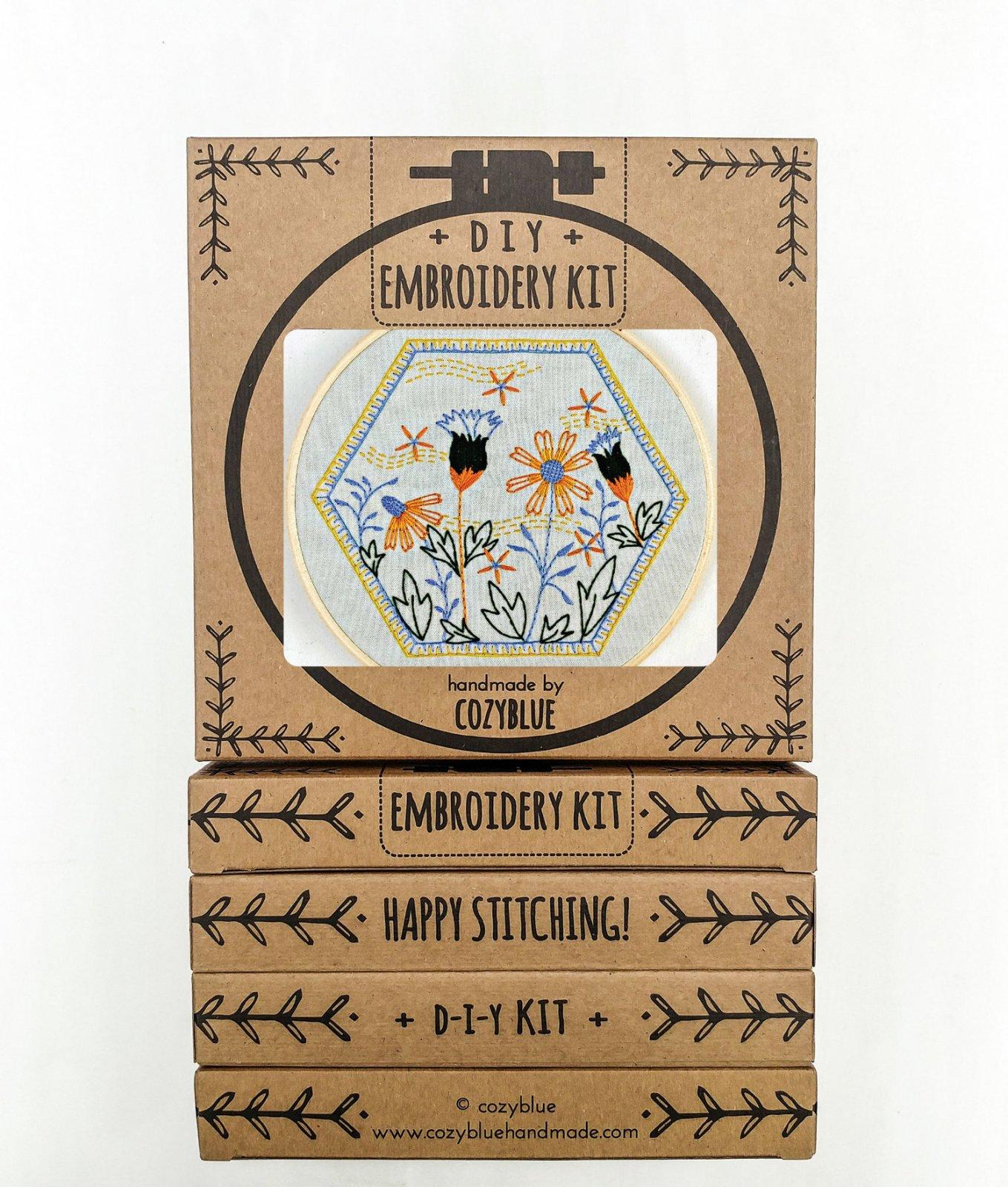 Cozy Blue Handmade Embroidery Kit - Summer Breeze