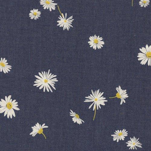 Art Gallery Fabrics Printed LIghtweight Denim - Daisies 60