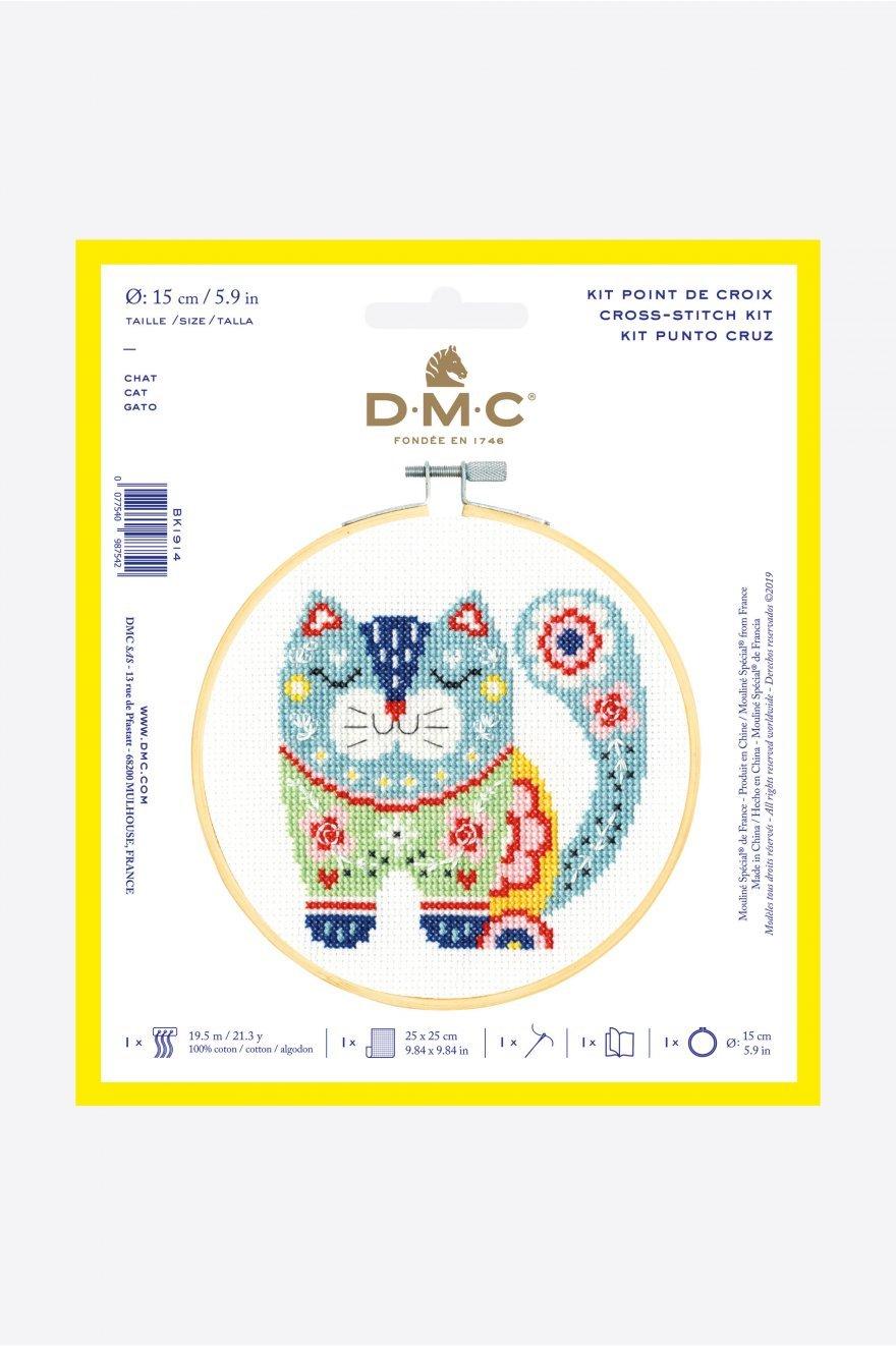 DMC XS Cat - Cross Stitch Kit