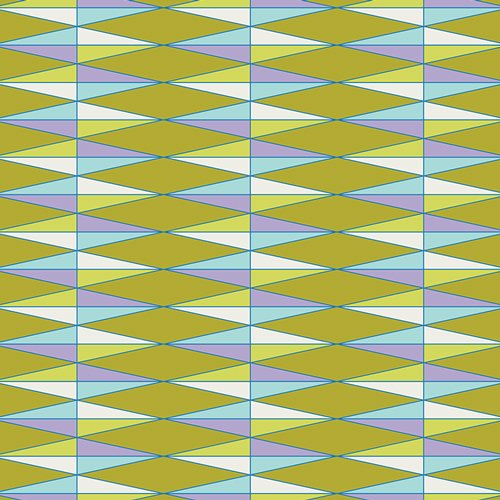 Art Gallery Fabrics Cotton - Triangularily Yours Olive