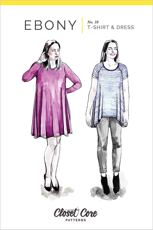 Closet Core Ebony T-Shirt & Knit Dress Pattern