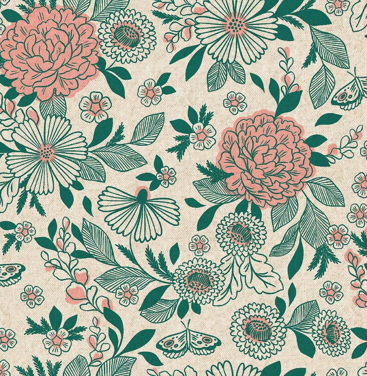 Earth Magic - Hidden Falls Floral Canvas