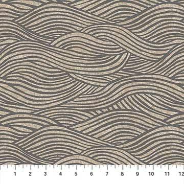 Waves Linen/Cotton Canvas - Grey