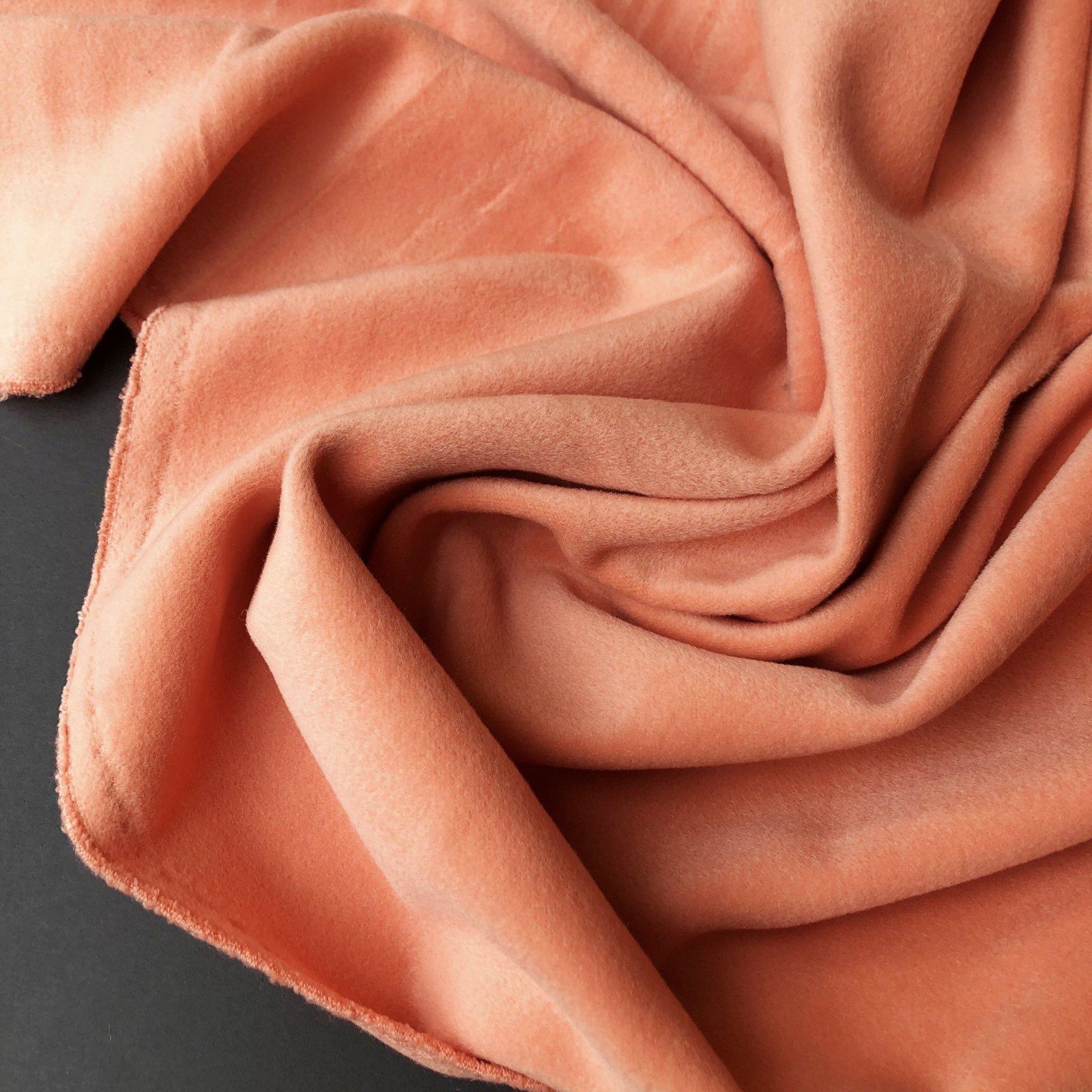 Designer Deadstock Wool/Nylon/Cashmere Brushed Coating - Salmon Coral