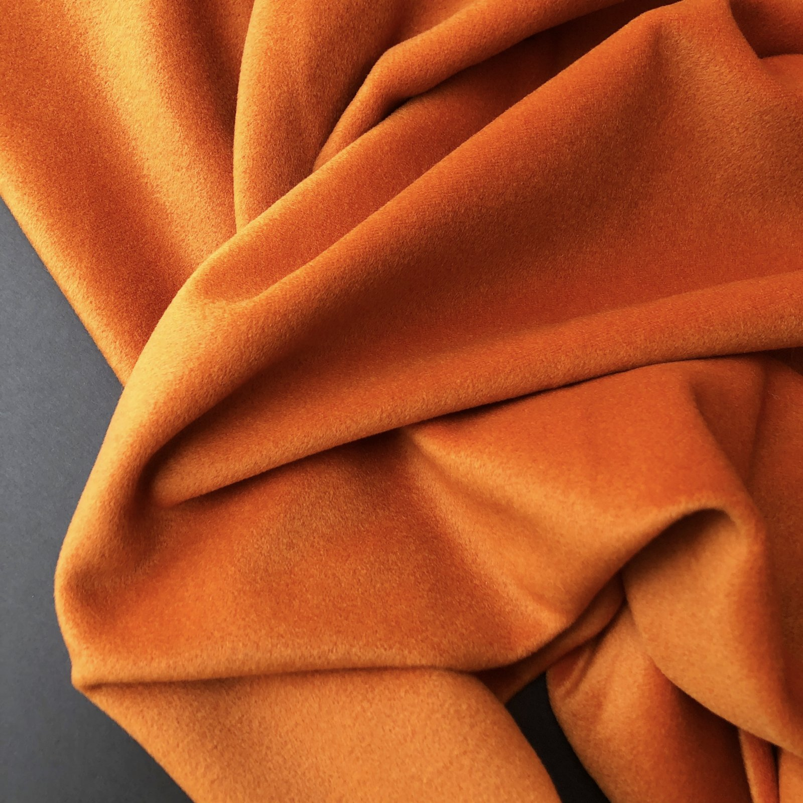 Designer Deadstock Wool/Nylon/Cashmere Brushed Coating - Pumpkin